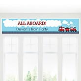 Train - Personalized Baby Shower Banner