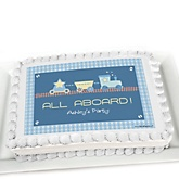Train - Personalized Baby Shower Cake Image Topper