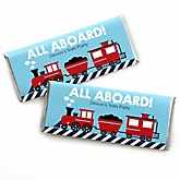 Train - Personalized Baby Shower Candy Bar Wrapper Favors
