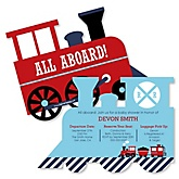 Train - Personalized Baby Shower Invitations