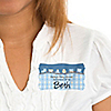 Train  - Personalized Baby Shower Name Tag Stickers - 8 ct