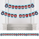 Train - Personalized Baby Shower Bunting Banner