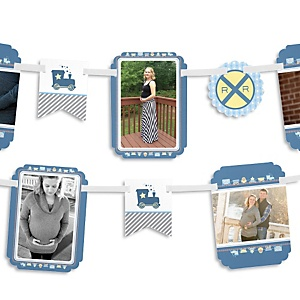 Train - Baby Shower Photo Garland Banners
