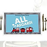 Train - Personalized Baby Shower Placemats