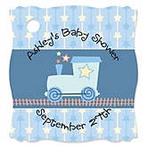 Train - Personalized Baby Shower Tags - 20 Count