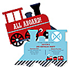 Train - Personalized Birthday Party Invitations