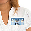 Train - Personalized Birthday Party Name Tag Stickers - 8 ct