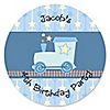 Train - Personalized Birthday Party Sticker Labels - 24 ct
