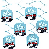 Train - Baby Shower Hanging Decorations - 6 Count