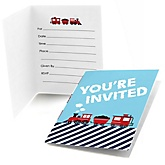 Train - Fill In Baby Shower Invitations - Set of  8