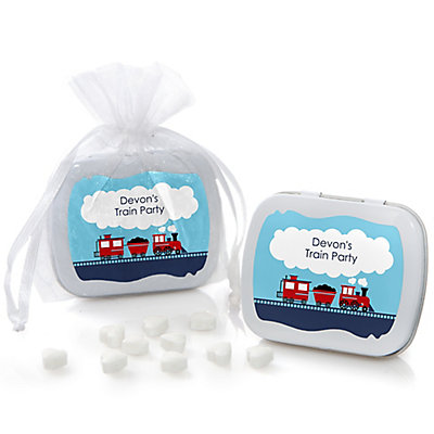 train mint tin personalized baby