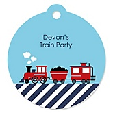 Train - Personalized Baby Shower Round Tags - 20 Count