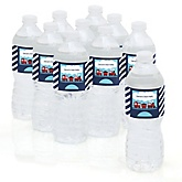 Train - Personalized Baby Shower Water Bottle Labels