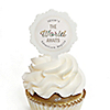 World Awaits - Personalized Graduation Cupcake Pick and Sticker Kit - 12 ct