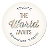 World Awaits - Personalized Graduation Sticker Labels - 24 ct