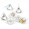 World Awaits - Round Candy Labels Party Favors - Fits Hershey's Kisses 108 ct