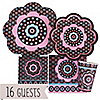 Trendy Flower - Birthday Party 16 Big Dot Bundle