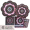 Trendy Flower - Birthday Party 48 Big Dot Bundle