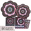 Trendy Flower - Birthday Party 64 Big Dot Bundle
