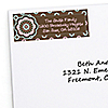 Trendy Flower - Personalized Birthday Party Return Address Labels - 30 ct