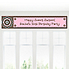 Trendy Flower - Personalized Birthday Party Banners
