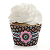 Trendy Flower - Birthday Party Cupcake Wrappers