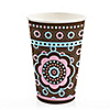 Trendy Flower - Birthday Party Hot/Cold Cups - 8 ct