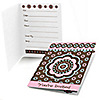 Trendy Flower - Birthday Party Fill In Invitations - 8 ct