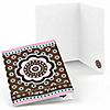 Trendy Flower - Birthday Party Thank You Cards - 8 ct