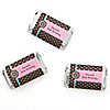 Trendy Flower - Personalized Birthday Party Mini Candy Bar Wrapper Favors - 20 ct