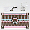 Trendy Flower - Personalized Birthday Party Placemats