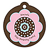 Trendy Flower - Round Personalized Birthday Party Tags - 20 ct