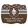Trendy Mommy - Personalized Baby Shower Squiggle Stickers - 16 ct