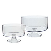 Clear Trifle Container Set - Baby Shower Do It Yourself - Set of 2
