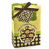 Triplet Monkeys Neutral - Personalized Baby Shower Favor Boxes