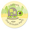 Turtle - Personalized Birthday Party Sticker Labels - 24 ct