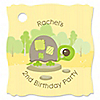 Turtle - Personalized Birthday Party Tags - 20 ct