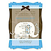 Twin Blue Baby Elephants - Personalized Baby Shower Vellum Overlay Invitations
