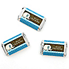 Twin Blue Baby Elephants - Personalized Baby Shower Mini Candy Bar Wrapper Favors - 20 ct