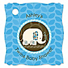 Twin Blue Baby Elephants - Personalized Baby Shower Tags - 20 ct