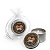 Twin Modern Babies 1 Boy & 1 Girl African American - Personalized Baby Shower Candle Tin Favors