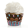 Twin Modern Babies 1 Boy & 1 Girl African American - Baby Shower Cupcake Wrappers
