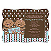 Twin Modern Babies 1 Boy & 1 Girl African American - Personalized Baby Shower Invitations
