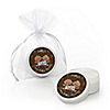 Twin Modern Babies 1 Boy & 1 Girl African American - Personalized Baby Shower Lip Balm Favors