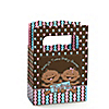 Twin Modern Babies 1 Boy & 1 Girl African American - Personalized Baby Shower Mini Favor Boxes