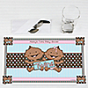 Twin Modern Babies 1 Boy & 1 Girl African American - Personalized Baby Shower Placemats