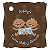 Twin Modern Babies 1 Boy & 1 Girl African American - Personalized Baby Shower Tags - 20 ct