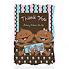 Twin Modern Babies 1 Boy & 1 Girl African American - Personalized Baby Shower Thank You Cards