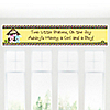 Twin Puppy Dogs 1 Boy & 1 Girl - Personalized Baby Shower Banners