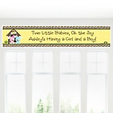 Twin Puppy Dogs 1 Boy & 1 Girl - Personalized Baby Shower Banner